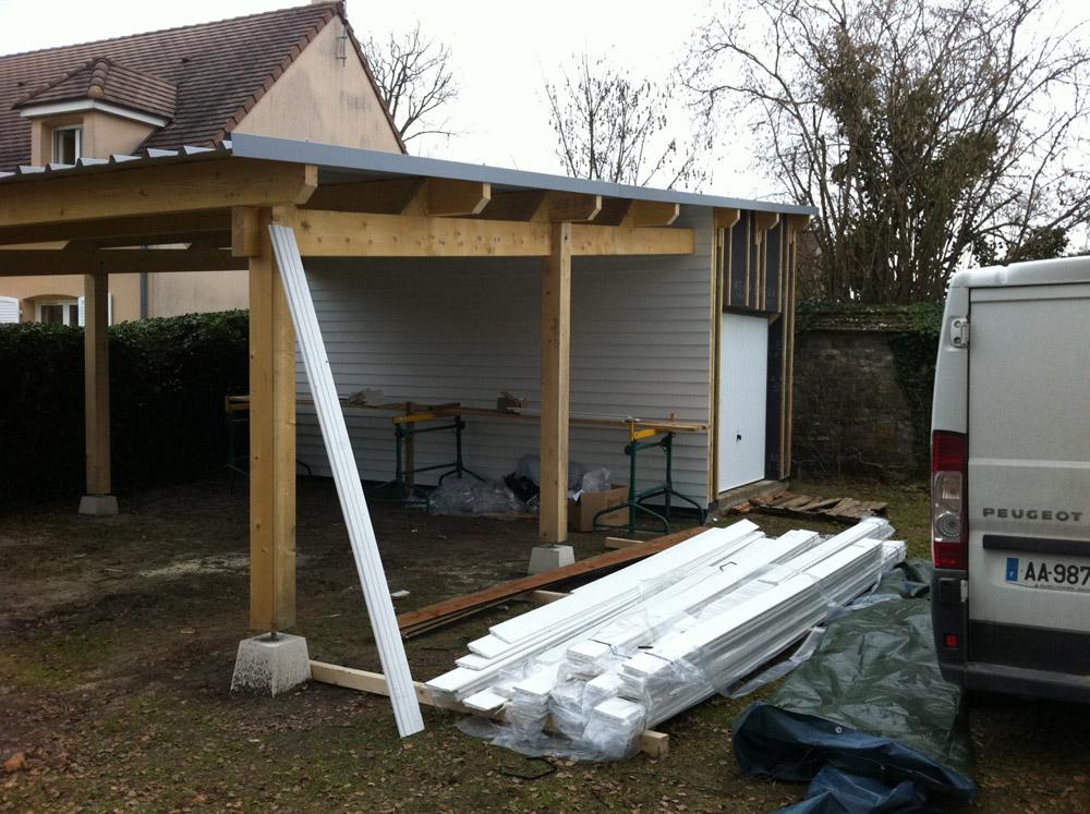 Maison ossature bois malesherbes dans le loiret 45 for Charpente pour tole bac acier